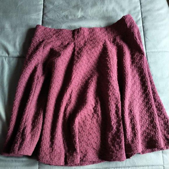New H&M Maroon Mini Skirt